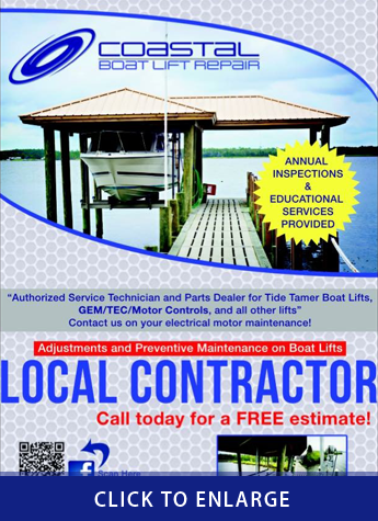 Coastal Boat Lift Repair Ad